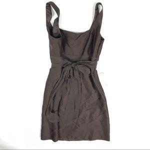 Ann Taylor Brown Tie Back Silk Dress